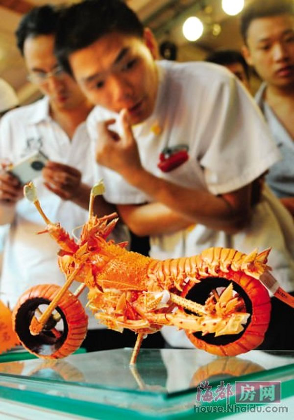 Lobstercycle made from discarded shells
