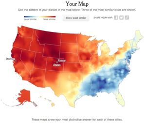 NY Times Vocabulary Quiz Determines Where You Are From Boing Boing - Us pronunciation map