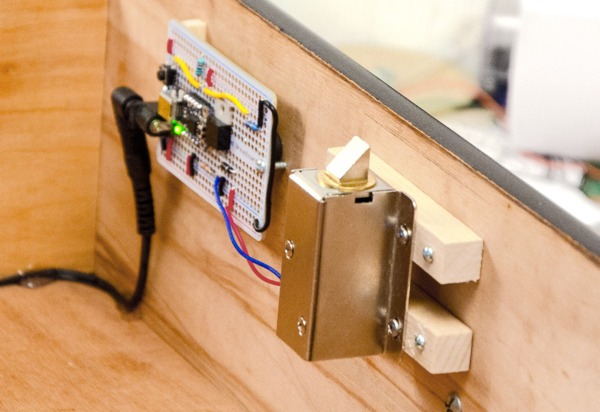 Make a drawer that opens with your secret knock