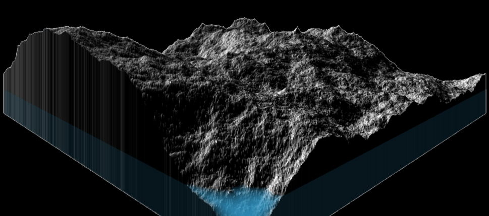 Fractal terrain generation in 130 lines of Javascript
