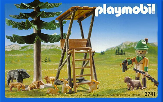 playmobil hunters stand