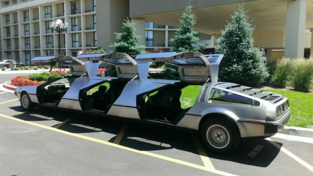 Stretch limo made from three bodged-together Deloreans