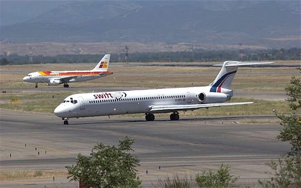 File photo: A Swiftair  jet similiar to the one that  missing today.