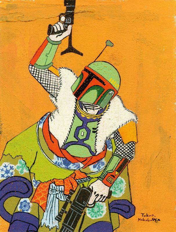 Takao Nakagawa Ukiyoe Character series 6, STAR WARS Boba Fett.