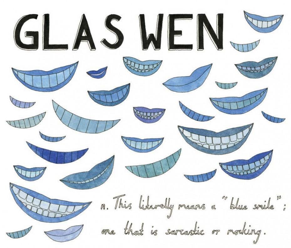 Glas wen - Welsh, noun