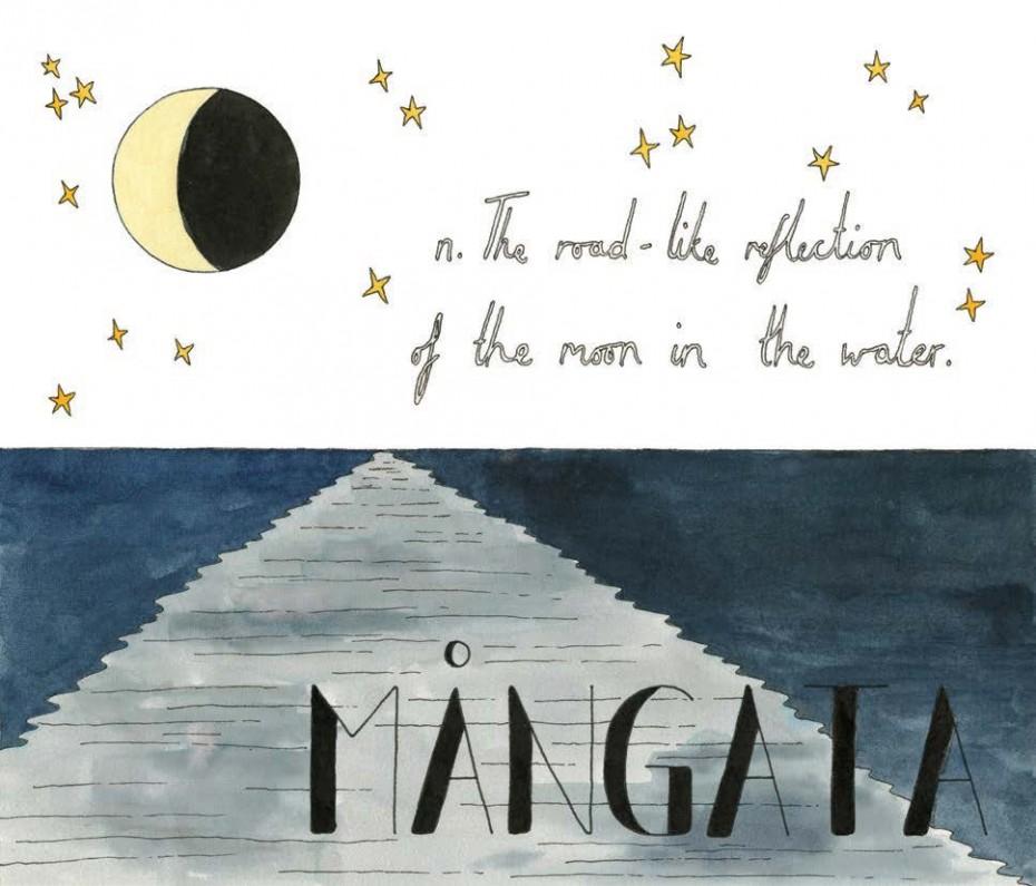 Mangata - Swedish, noun