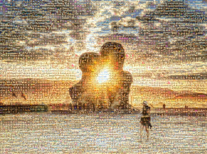 Burning Man photo mosaic from 2,000 public Instagrams / Boing Boing