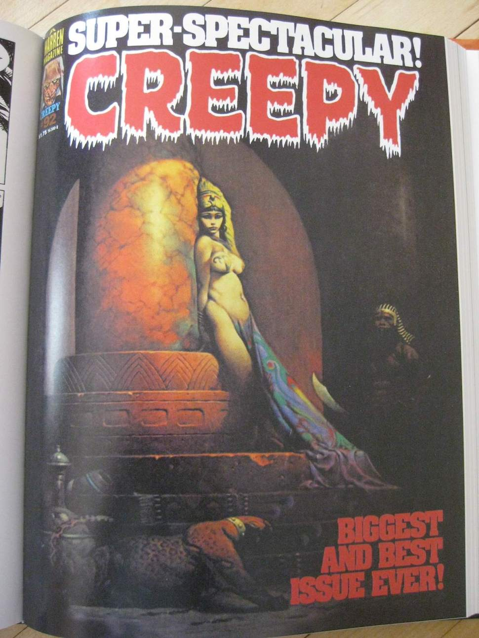 A collection of gory and ghastly Creepy and Eerie magazines