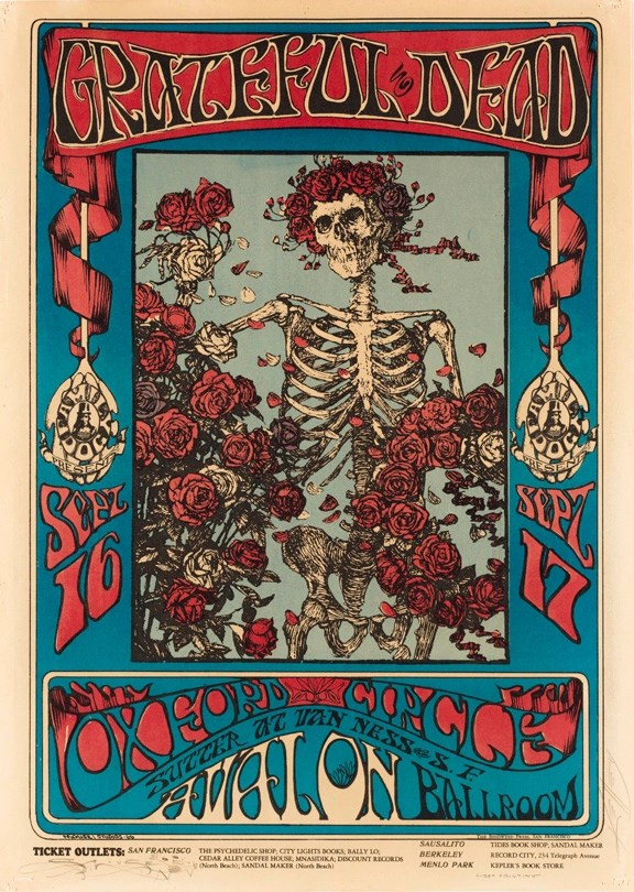 Grateful Dead Skeleton And Roses September 16 17 1966 Avalon