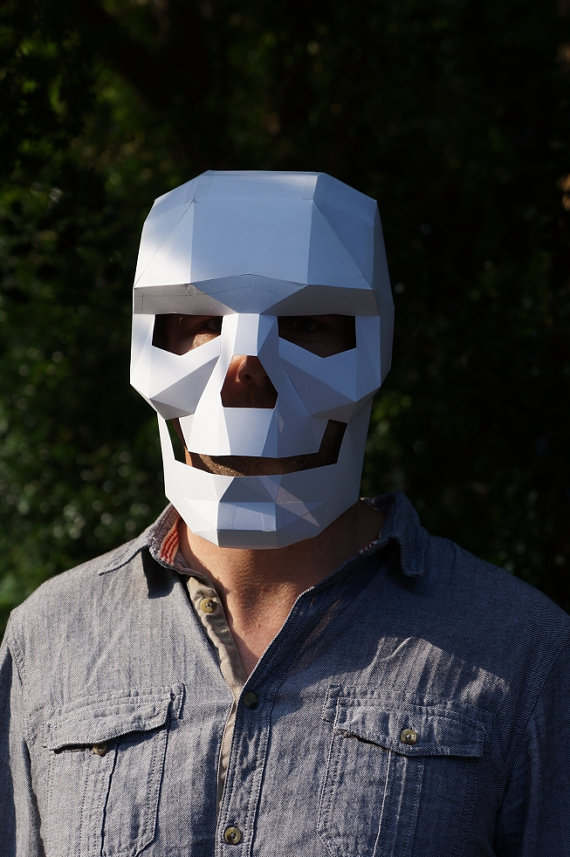 Well-liked Polygon paper skull mask / Boing Boing OE14