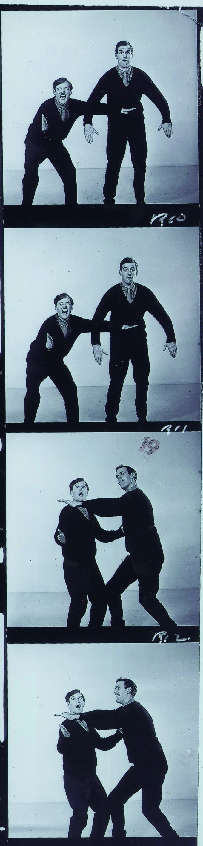 David Hatch from the Cambridge Circus and me fooling around.