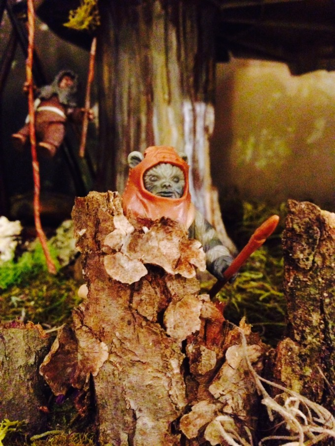 Ewoks are well-camouflaged in their natural habitat.