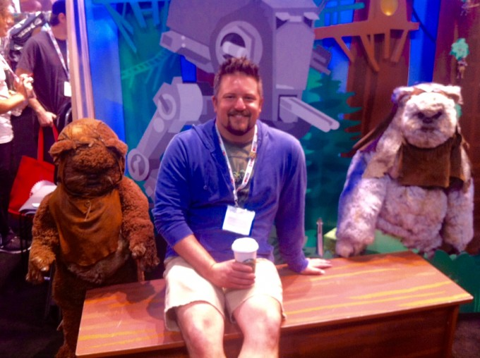 Here's me hanging with some Ewoks at San Diego Comic Con International.