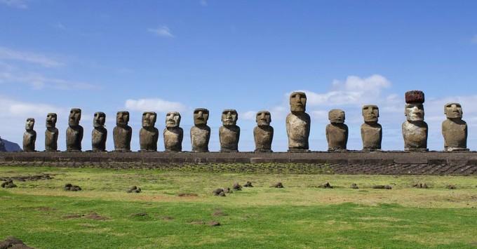 The moai at Ahu Tongariki.