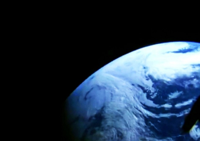 Looking back at Earth: Dec. 5, 2014 – A camera in the window of NASA's Orion spacecraft looks back at Earth during its unpiloted flight test in orbit. Photo: NASA Television