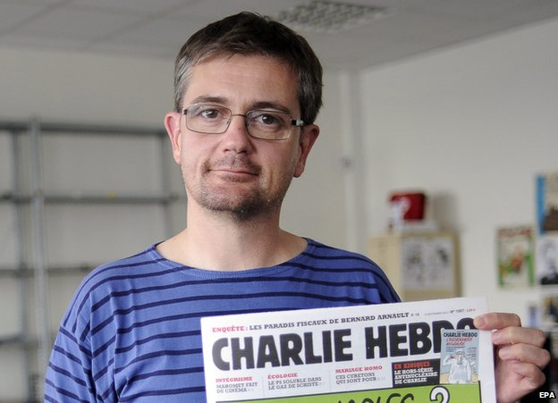 """Charlie Hebdo editor """"Charb,"""" killed in today's attack."""