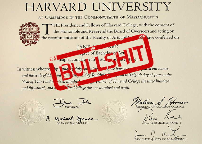 A Fake Harvard Diploma Costs 650 Boing