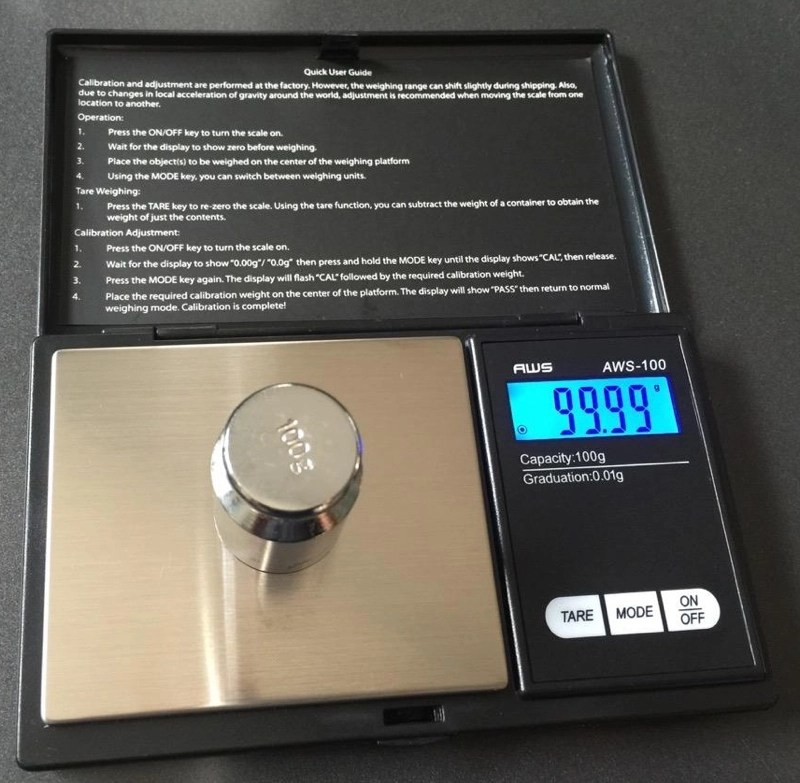 I'm having fun with my $(removed) digital scale that has 0 01g
