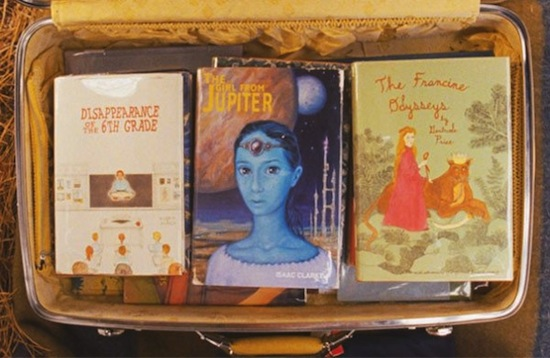 The books Suzy carries, in MOONRISE KINGDOM