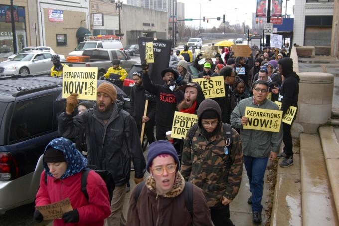 Reparations March - Dec 16, 2014 [photo by Caroline Siede]