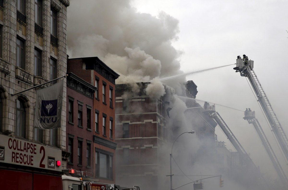 In photos: Explosion in NYC's East Village injures at Least 12, building collapses