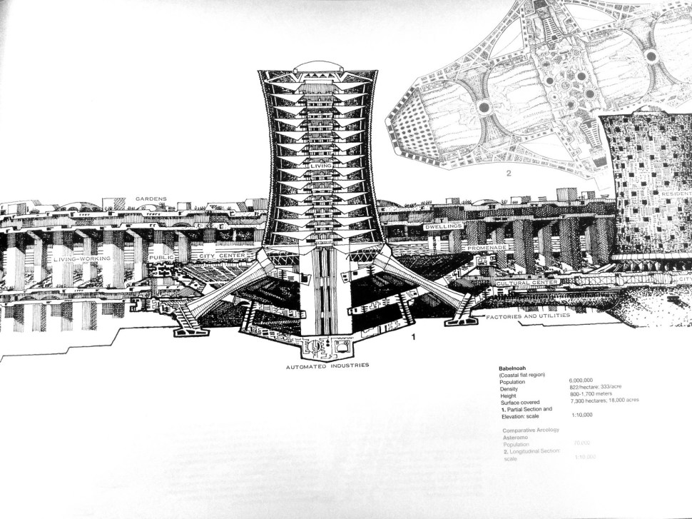 Arcology: cutaways of the future city-hives that never