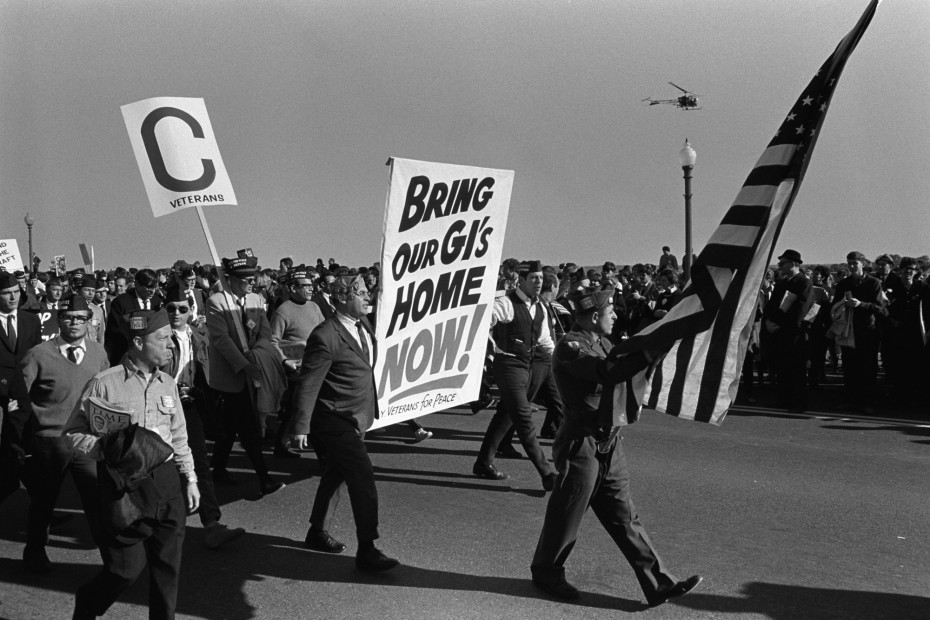 Marchers from Veterans for Peace protest the Vietnam War outside the Pentagon in Washington, October 21, 1967. REUTERS/Courtesy LBJ Library -