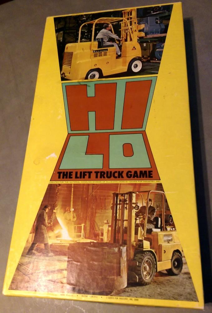 vintage hi-lo allis-chalmers board game box