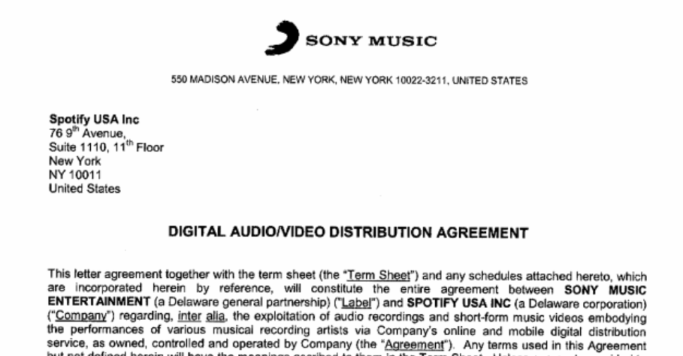 sonyspotifycontract