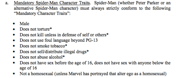 Rules for depicting Spiderman in film are grimly bland