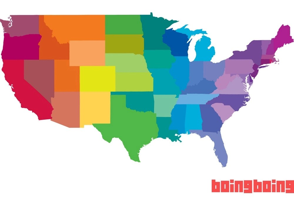 A new map of the United States showing where same-sex marriage is legal