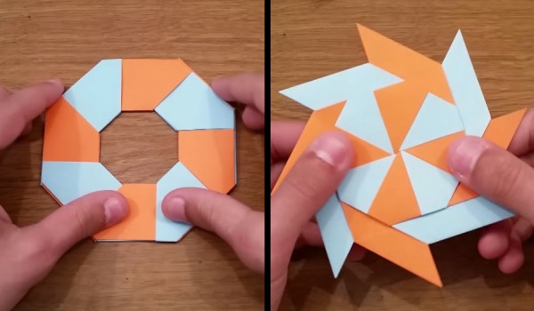 How to make a paper ninja star origami