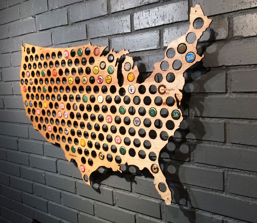 Beer cap maps Boing Boing
