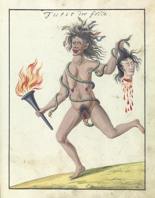 Illustration of a demon. Credit: Wellcome Library, London.