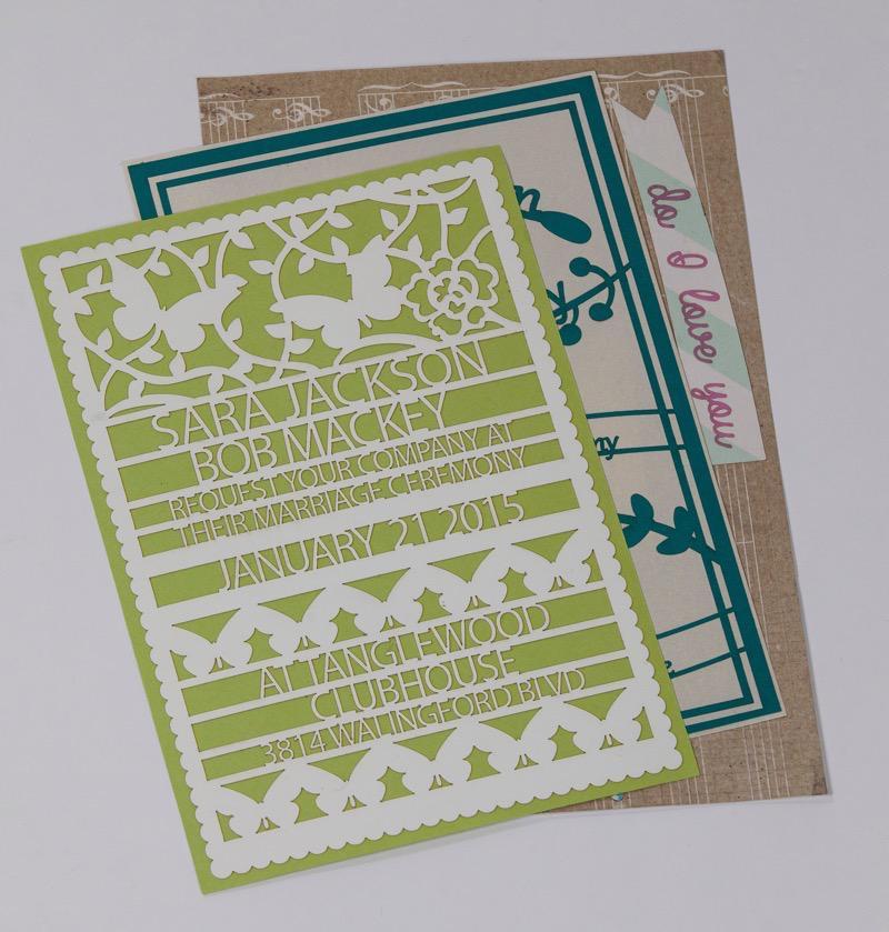 Glowforge paper invites