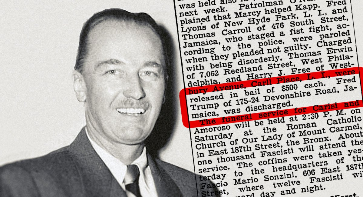 1927 news report: Donald Trump's dad arrested in KKK brawl with cops