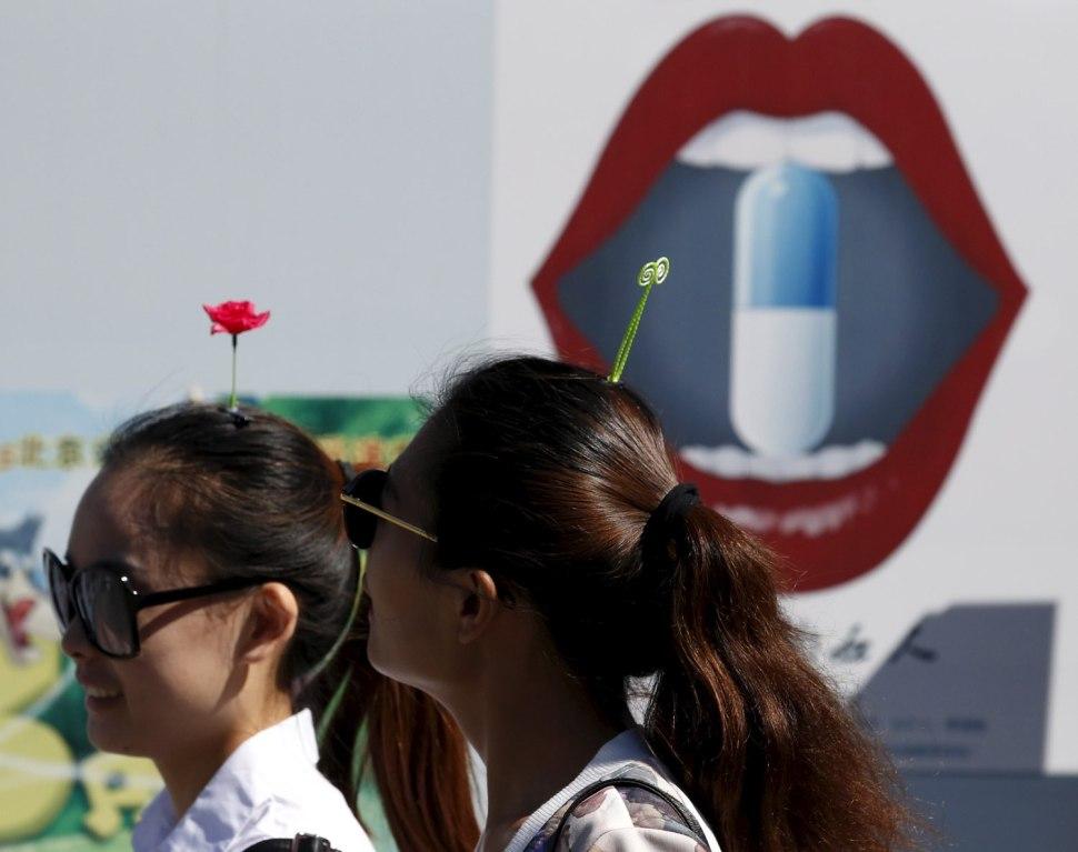 Women in Beijing. REUTERS