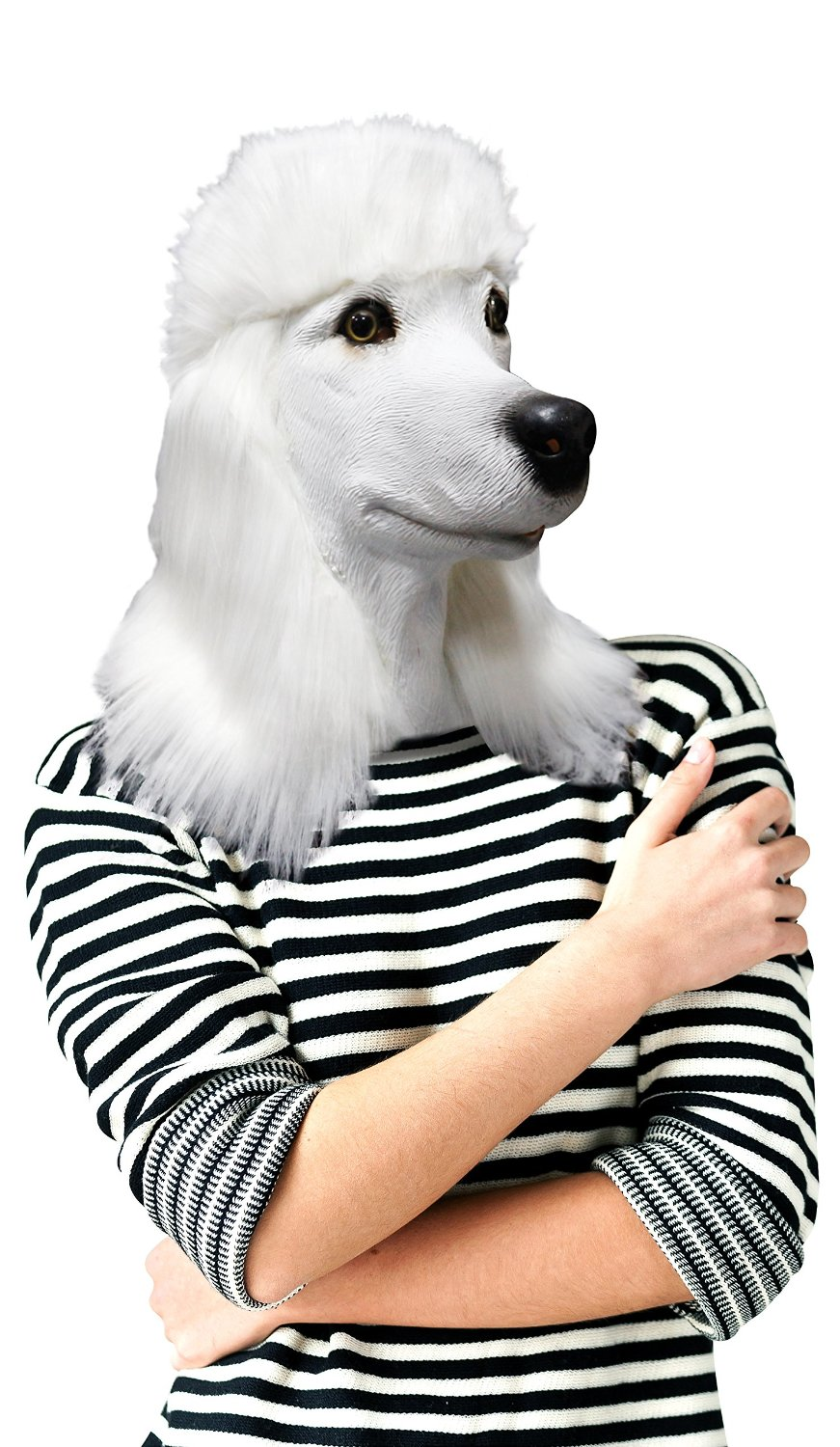 Doggie Mask: Unsettlingly Realistic Dog Head Masks / Boing Boing