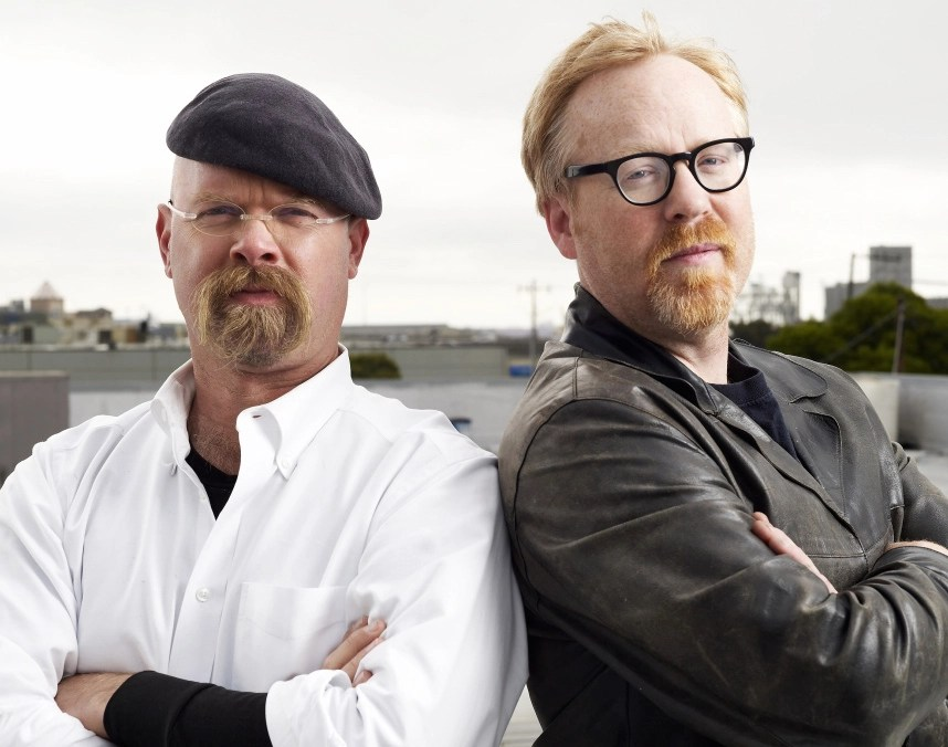 Jamie Hyneman and Adam Savage, hosts of MythBusters, in San Francisco, CA, on August 14, 2007