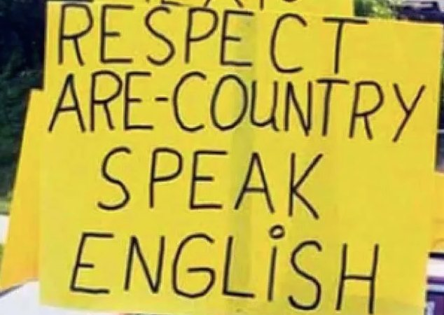 Misspelled signs written by people who love English
