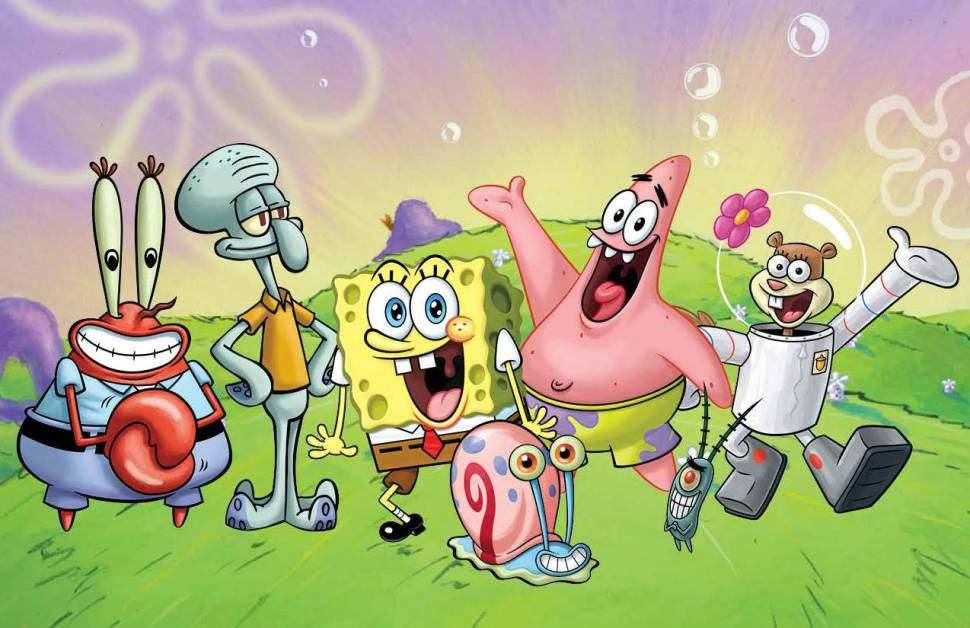 Spongebob and his friends were happy to hear the news.