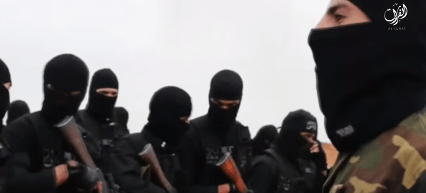 Screengrab from November, 2015 ISIS/Daesh threat video.