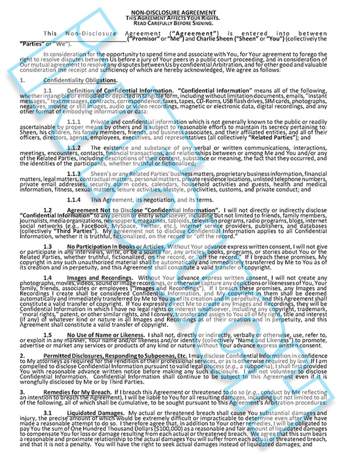 Read the nondisclosure agreement you must sign if you want to have – Confidential Disclosure Agreement