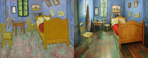 Van Gogh's Bedroom Painted and Real