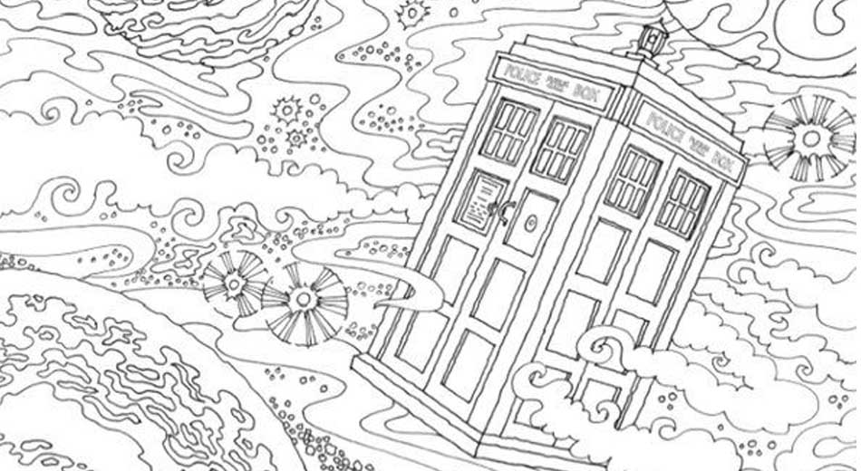 doctor who coloring book for geeks
