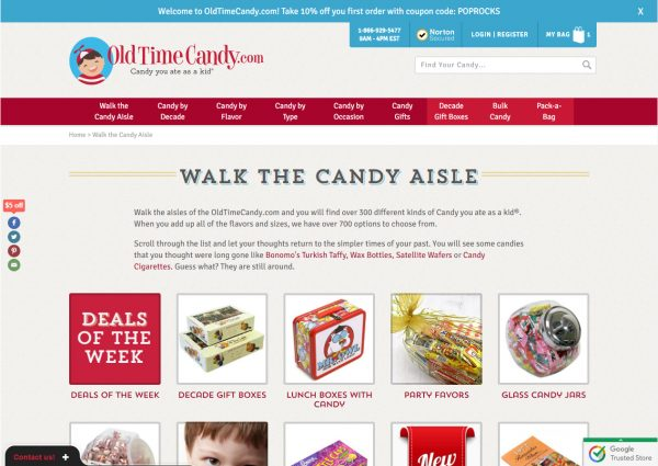 Old Time Candy Online