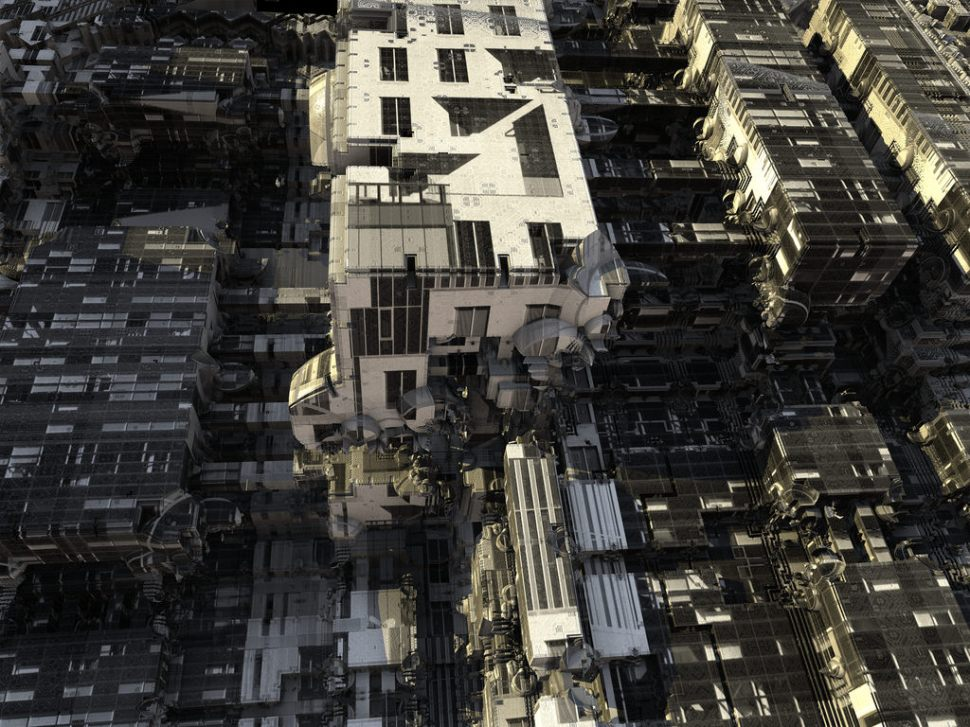 Generative, collaging architecture system designs impossible