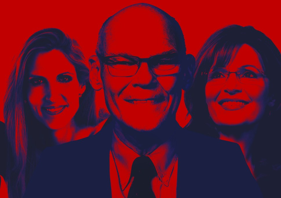 Ann Coulter, James Carville, and Sarah Palin are slated to appear at Politicon 2016.