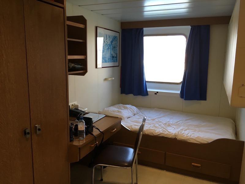 Before I left the United States, I worried that my cabin on the ship would resemble the inside of a sardine can, but it is actually quite spacious and comfortable.