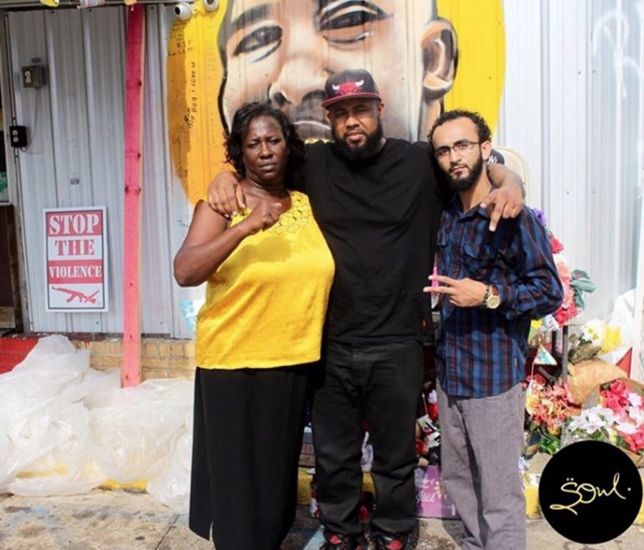  Alton Sterling's aunt Veda Washington, Chris LeDay and Abdullah Muflahi, in front of a memorial to Sterling. LeDay uploaded a video of the police shooting and was arrested 26 hours later. Muflahi documented the police shooting of Alton Sterling and was arrested immediately afterwards.
